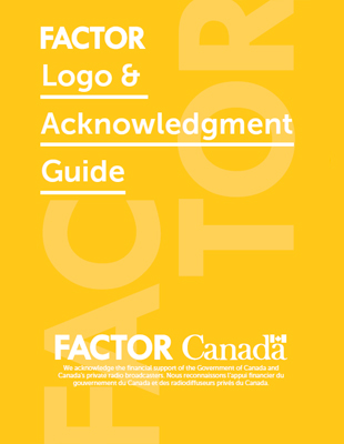 FACTOR Logo & Acknowledgment Guide for New Music Works