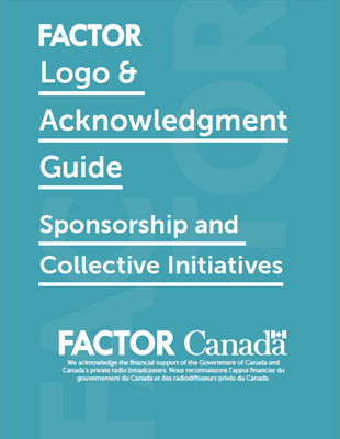 FACTOR Logo & Acknowledgment Guide - Sponsorship and Collective Initiatives