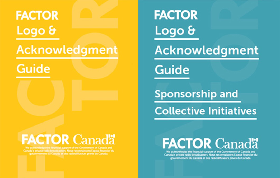 FACTOR's new Logo & Acknowledgment Guides